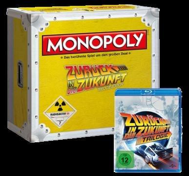Monopoly Zurück in die Zukunft + GRATIS Blu-Ray Trilogie (deutsche Version)