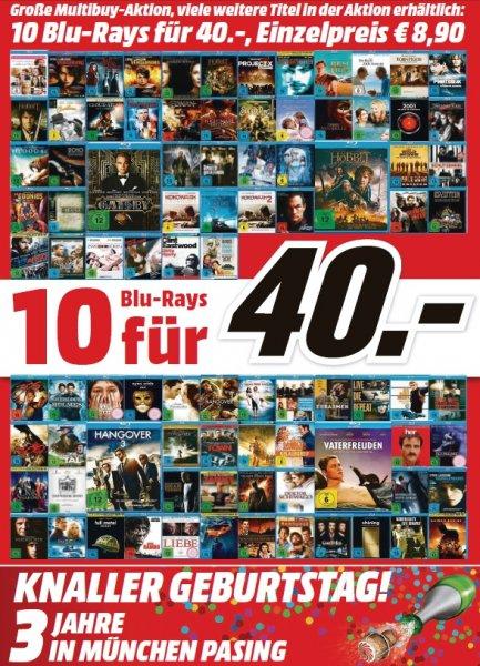 [lokal München / Erding / Karlsfeld] 10 Blurays (viele Star Selection Titel dabei!) für 40€