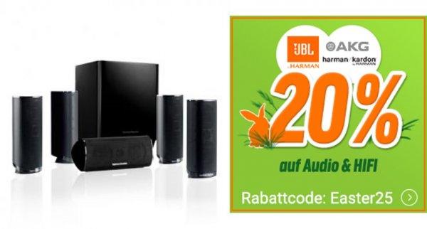 20% auf Harman Kardon HKTS 16 BQ Schwarz 5.1 Lautsprecherset