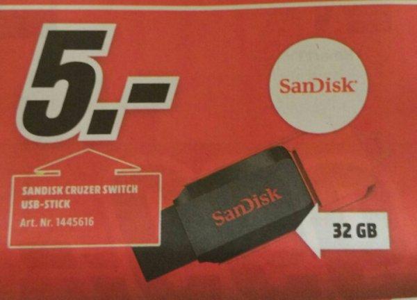 [lokal Mediamarkt Weiden] Sandisk Cruzer Switch 32Gb 5€
