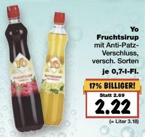 [Kaufland BW+, KW11] Yo Fruchtsirup -44% (Angebot + Coupon)