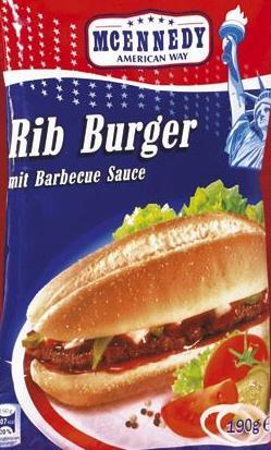 190g Rib-Burger mit Barbecuesauce @Lidl