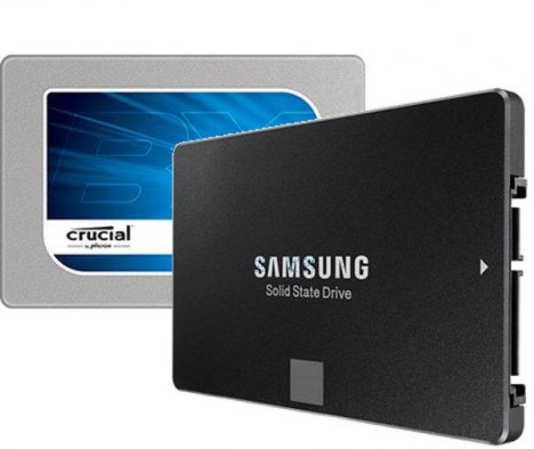 *Update: Samsung ausverkauft* [Mindfactory] Crucial BX100 mit 250 GB (nicht die umstrittene BX200) für 64,60€, Samsung SSD 850 Evo mit 500 GB für 122,18€ bei Zahlung mit Paypal