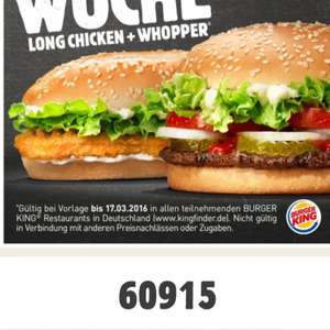 Long Chicken + Whopper
