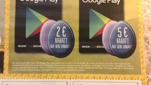 Google Play mit Gutschrift in allen Rewe- Märkten