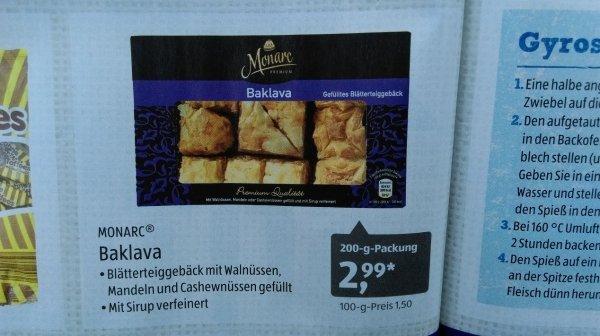 [Aldi Süd] Baklava türkischer Nachtisch / Süßigkeit