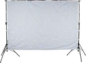 -71% LED Sternenhimmel (2x3m) Showtec Star Sky I White White cloth + Stative (Musik-gesteuert)