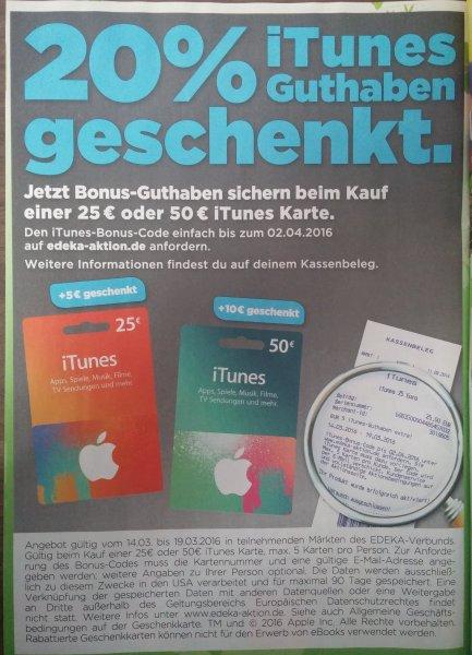 [Treff3000] iTunes Guthaben Karten 25€ + 5€ = 25€, 50€ + 10€ = 50€ 16,6 % Rabatt, gültig von 14.03. - 19.03.