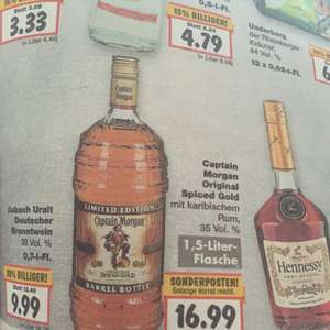 Captain Morgan 1,5l Kaufland OBurg 16,99€