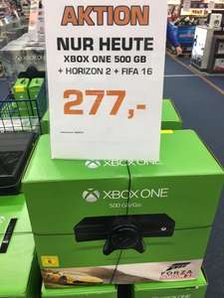 [Lokal Hamburg] Xbox One 500GB + Forza Horizon 2 + Fifa 16