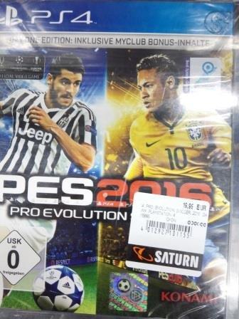 Pro Evolution Soccer 2016 Day One Edition PS4 Lokal Saturn Ffm/Zeil