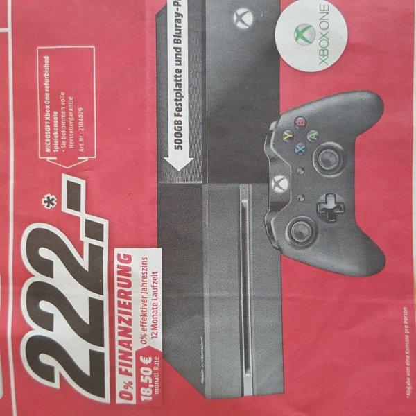 [Lokal Schweinfurt Media Markt] Xbox One 500 GB Verkaufsoffener Sonntag