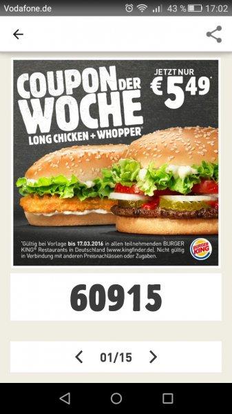 Long Chicken + Whopper 5,49 €
