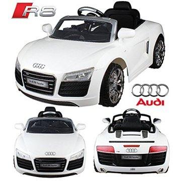 [MÖMAX] Audi R8 Spyder Kinder-Elektroauto in Weiß für 129€