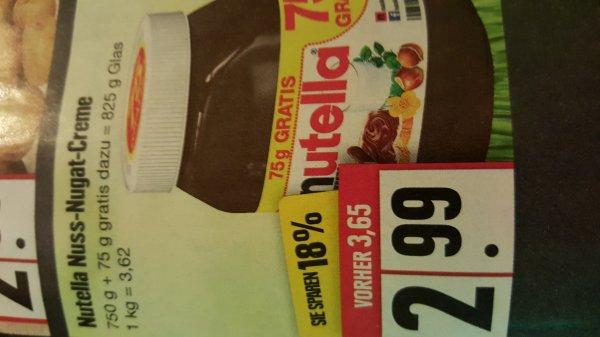 Edeka, Nutella 1 kg 3,62€