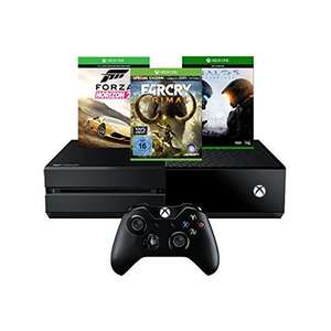 [amazon.de] Xbox One 500GB inkl. Forza Horizon 2 + Far Cry Primal + Halo 5: Guardians für 319€ - Versandkostenfrei -