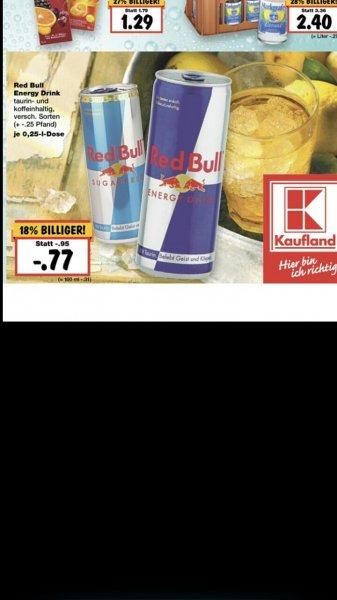 (Lokal) Red Bull im Kaufland Karlsruhe 0,77€ vielleicht Deutschland weit
