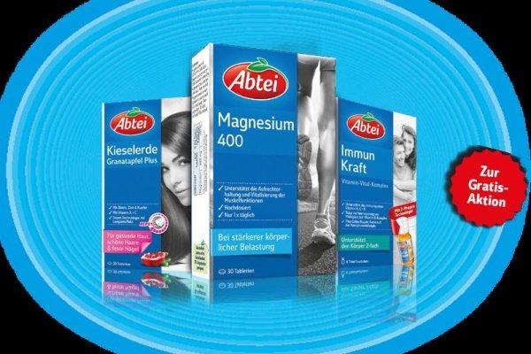 Abtei - 2 Produkte mit Aktionssticker kaufen und 1x Magnesium 400 gratis erhalten