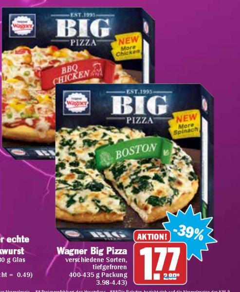 [Hit] Wagner Big Pizza verschiedene Sorten 1,77€