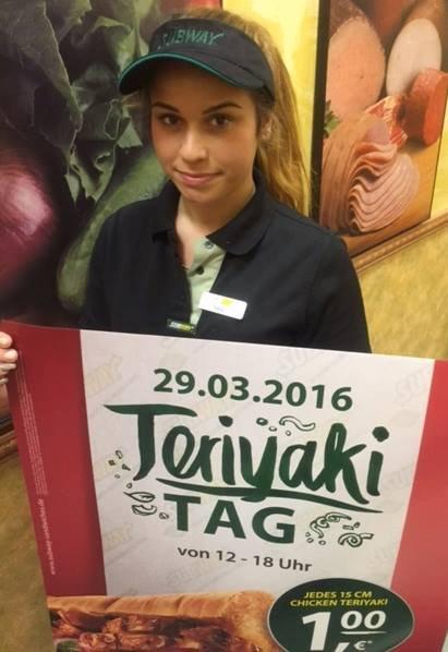 [Stuttgart] 15cm-Sub Chicken Teriyaki am 29. März für nur 1€