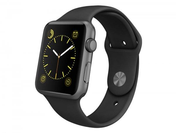 Apple Watch Sport 42mm spacegrey mit Sportarmband schwarz bei Gravis über ebay für 341,91€