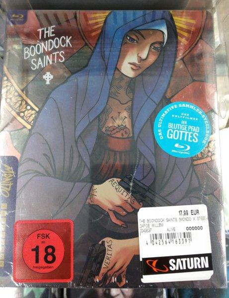 [Lokal] Berlin Saturn Alex Blu-ray The Boondock Saints / Blutige Pfad Gottes Mondo x SteelBook
