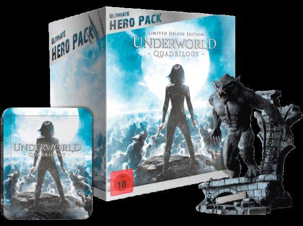 MEDIA MARKT: Underworld 1-4 (Ultimate Hero Pack inklusive 23 cm Figur) [Blu-ray] 44,99