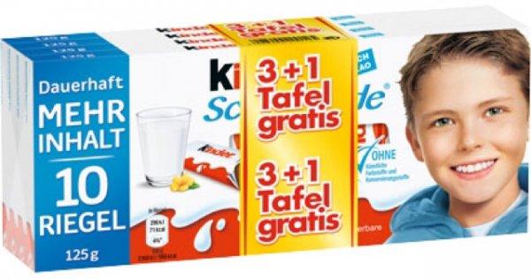 [lokal Kaufland Hannover, evtl. bundesweit] Kinder Schokolade oder Yogurette, 4x 125g