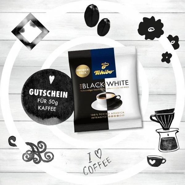 50g Tchibo Black N White Kaffee gratis