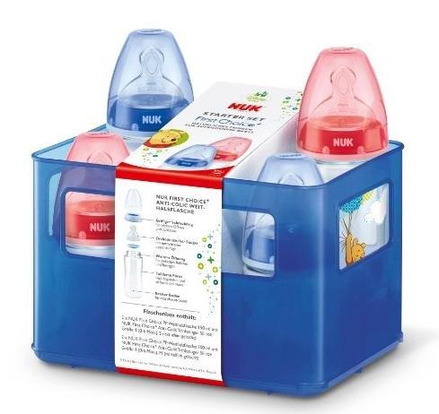 [Amazon] Blitzangebot (noch ca. 3,5h) NUK Disney Winnie First Choice Starter Set - 4 Anti-Colic Weithalsflaschen (2x 150ml und 2x 300ml) für 15,99€ statt 19,95€