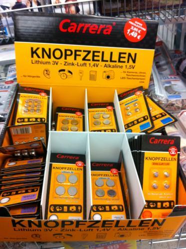 [Lokal ? Netto Karlsruhe ] Carrera Knopfzellen verschiedene Ausführungen 1,49€ statt 5,95€ ,  4 bzw 9 Stück
