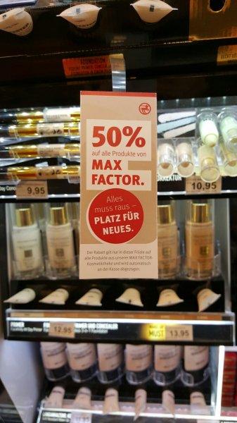 Lokal -  50% auf Max Factor Produkte Fehmarn/Burg Rossmann