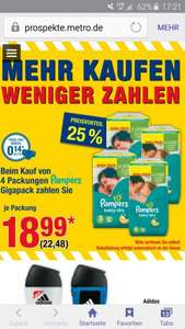 [Metro] bundesweit Pampers GigaPack je 22,48€