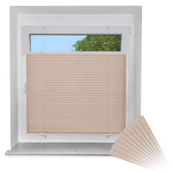 [eBay / Amazon - jalousiescout] VICTORIA M EasyFix Plissee 60x200 in beige