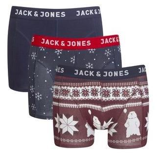 Weihnachtliche Jack & Jones Boxershorts im 3er Pack für 13€ bei Zavvi