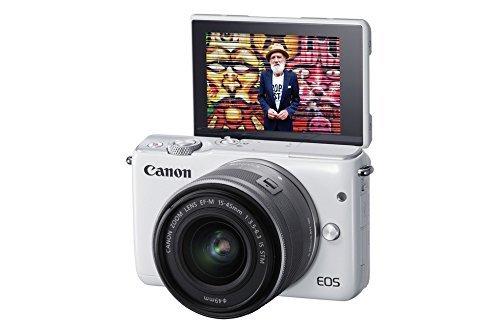 Canon EOS M10 Systemkamera Kit mit EF-M 15-45mm IS STM (7,5 cm (3 Zoll), WLAN, NFC, 18 Megapixel, 1080p, Full HD) weiß für 227,60 € @Amazon