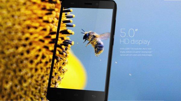 Doogee X5 Android 5.1 DualSIM Smartphone mit 5 Zoll Multitouch Display, HD-Auflösung (1280*720 Pixel), 1GB RAM, 1,3 Ghz QuadCore für ~55€ inkl. Versand und Original Ledertasche