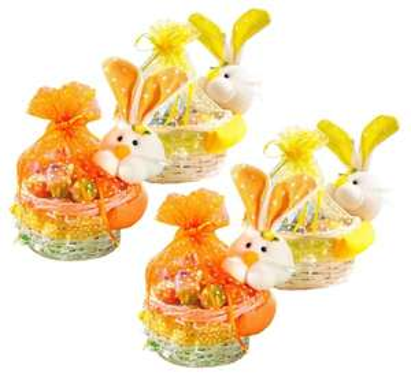 4x Weide Osterkorb mit Häschen Osternest Korb Ostern Deko Geschenk @ Ebay Wow für 9,99€ inkl VSK