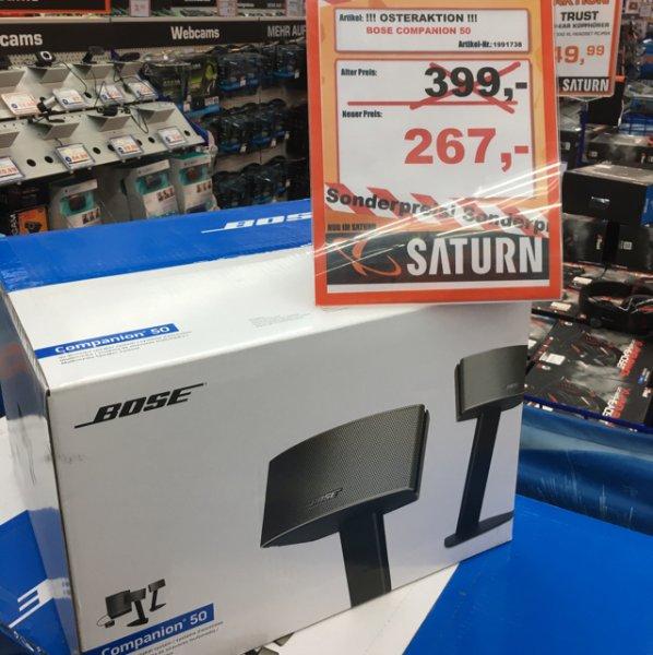 (Lokal Saturn Darmstadt) Bose Companion 50 - 2.1 Lautsprechersystem für 267€