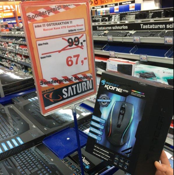 (Lokal Saturn Darmstadt) Roccat Kone XTD Gaming Mouse für 67€
