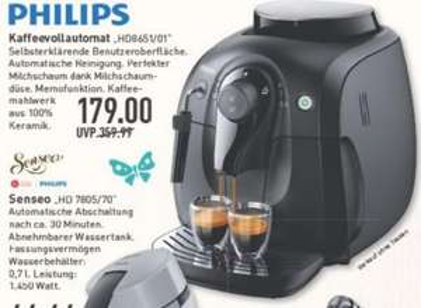 Kaffevollautomat Phillips HD8651/01, 179€ (PVG: 265€), Marktkauf (Regional)
