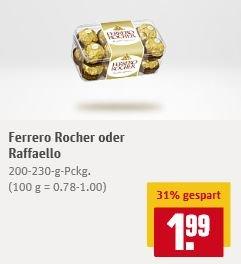 [Rewe Bundesweit] Ferrero Rocher oder Raffaello 1,99€