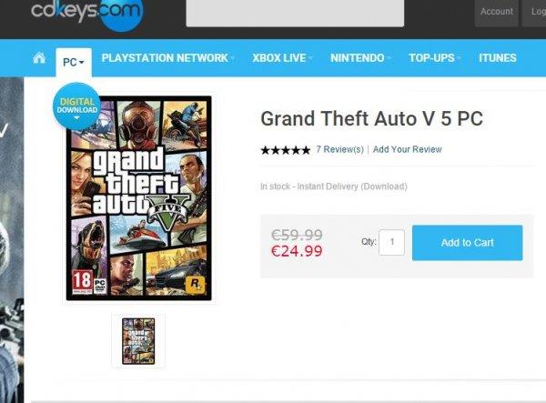 [PC]**GTA 5 [Tiefpreis!!) UNTER 25€