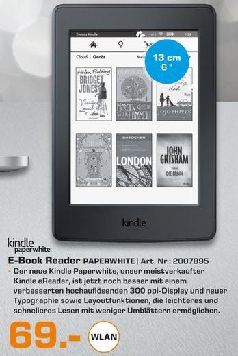 [Lokal Saturn Erlangen/Mediamarkt Salzgitter und Braunschweig] Kindle Paperwhite (WLAN, 300ppi) für 69,-€