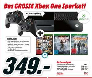[Media Markt Bundesweit] ab 17.03.2016 | Xbox One-Set (500GB) + 2.Controller + The Division + GTA V + Rise of the Tomb Raider(Download)
