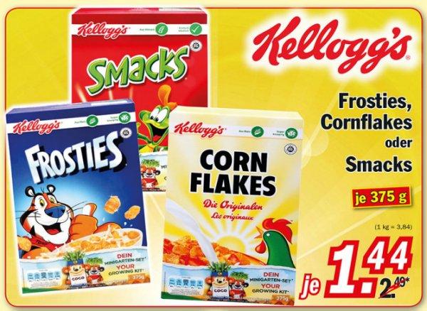 [ZIMMERMANN] Kellogg's Cornflakes Original // Frosties // Smacks 375g für 1,44€