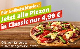 [Berlin Tiergarten] Joey's jede Classic Pizza 4,99€ für Selbstabholer, unter Umständen auch in anderen Filialen