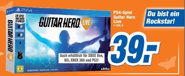 [Lokal Expert Märkte evtl. Bundesweit] Guitar Hero Live inkl. 1 Gitarren Controller - Alle Plattformen - für 39€