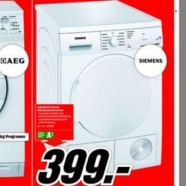 Siemens Trockner WT44W162 399€