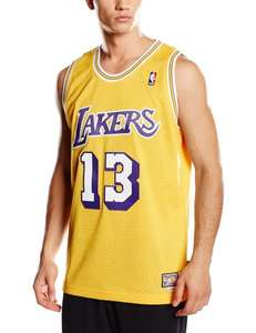 amazon adidas LA Lakers Chamberlain Swingman Basketballtrikot Herren